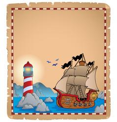 Pirate theme parchment 7 vector