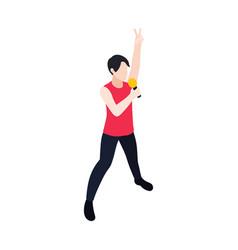 pop music singer vector image
