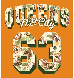 Queens New York City vector image