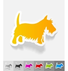 Realistic design element scottish terrier vector