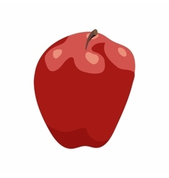 Red apple icon in cartoon style vector image