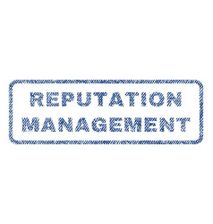 Reputation management textile stamp vector