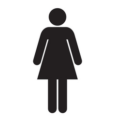 restroom female vector image