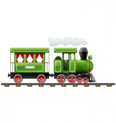 retro locomotive vector image