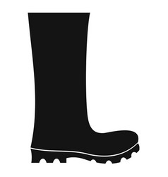 rubber boots icon simple vector image