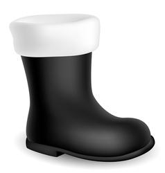 Santa black boot vector