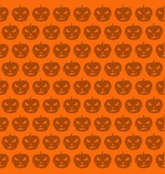 seamless halloween pattern with jack o lantern vector image