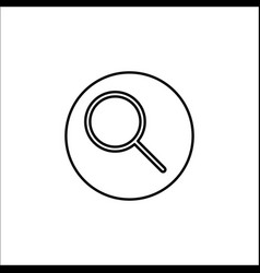 Search line icon mobile sign and magnifier vector