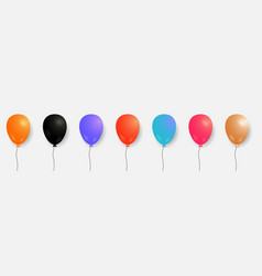 set of colorful balloons helium balloons vector image