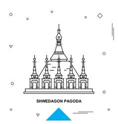 shwedagon pagoda vector image