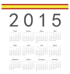 Simple spainish 2015 year calendar vector