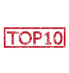 stamp text top10 vector image