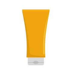 sun protection cream icon flat style vector image