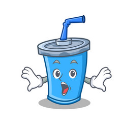 Surprised soda drink character cartoon vector