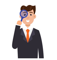 tax inspector character flat style vector image