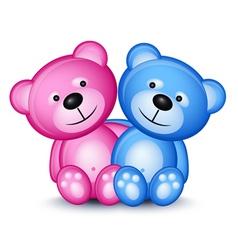 Teddy bear couple vector