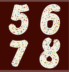Tempting tipography font design 3d numbers five vector