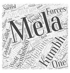The Kumbh Mela Word Cloud Concept vector