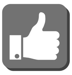 Thumb Up Rounded Square Icon vector