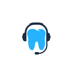 tooth podcast logo icon design vector image