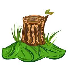 Tree stump a cartoon big tree vector