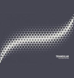 Triangular particles halftone geometric vector