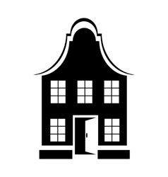 Two-storey house icon simple style vector image vector image