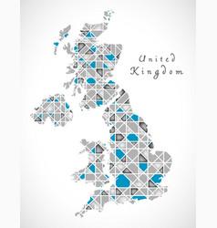 united kingdom map crystal style artwork vector image