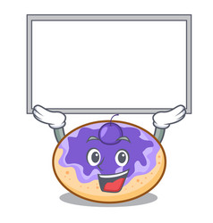 Up board donut blueberry character cartoon vector
