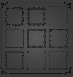 vintage set of square elements vector image