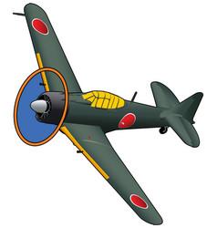 world war ii fighter airplane vector image