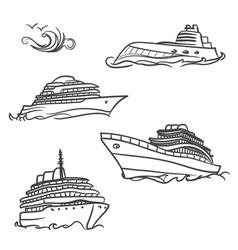 yacht symbols vector image