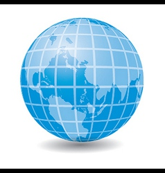 Blue Earth globe - icon vector image vector image