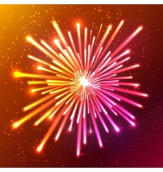 Bright neon firework vector image