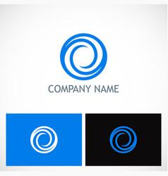 circle round abstract company logo vector image