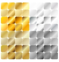 Golden and Silver Gradient Pattern Template vector image