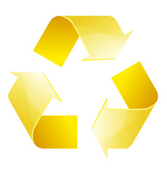 recycle symbol of conservation yellow icon vector image vector image