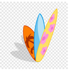 surf boards isometric icon vector image vector image