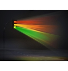 abstract traffic lights in fog background vector image