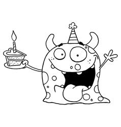 Birthday monster cartoon vector image vector image
