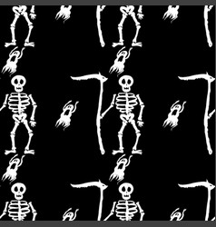 death skull halloween skeleton vector image