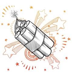 doodle pop dynamite vector image vector image