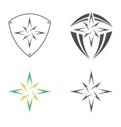 Logo star of Bethlehem vector image vector image