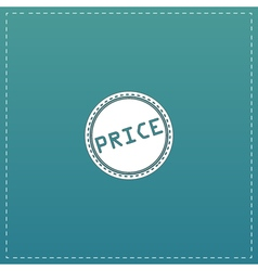 Price icon badge label or sticker vector