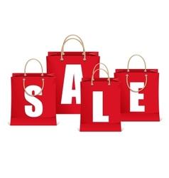 sale labels like shopping bag vector image