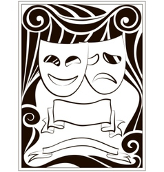 theater masks vector image vector image