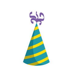 birthday hat isolated vector image vector image