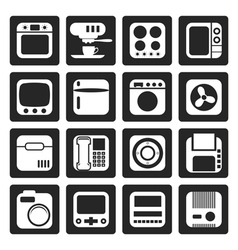 Black Home and Office Equipment Icons vector image vector image