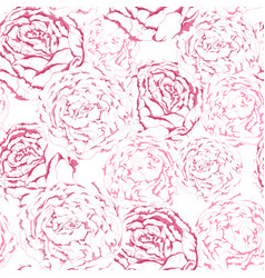 seamless pattern of pink gentle flowers with vector image