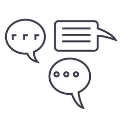 simple chats line icon sign vector image